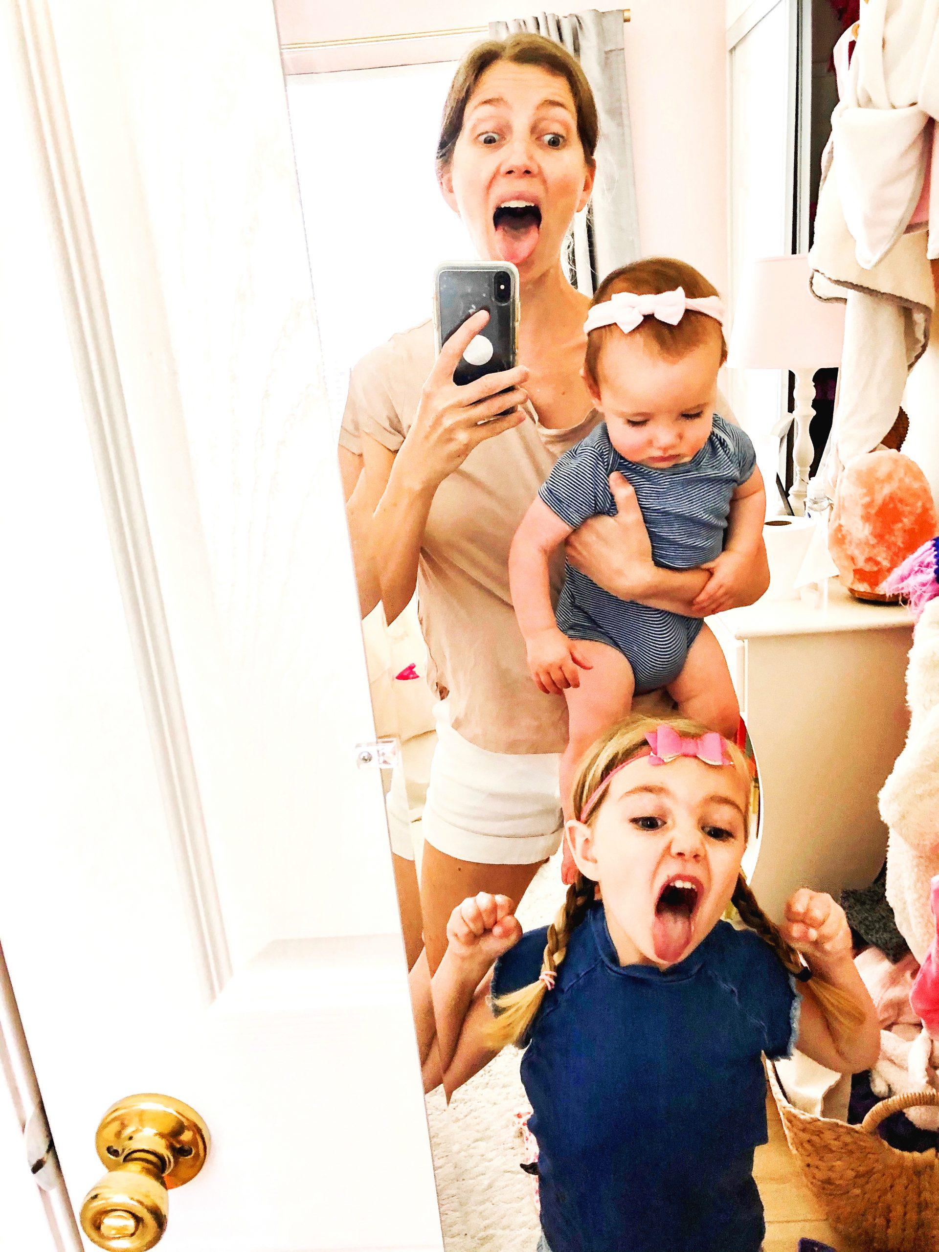 Lauren Lobley and the kids